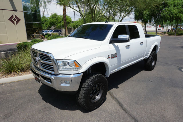 3c63r3mlxeg238795 14 White Ram 3500 Laramie Mega Cab 4x4