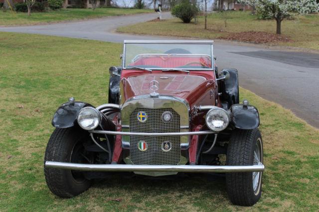 B1733 1929 mercedes benz ssk replica red convertible gazelle for Mercedes benz car care kit