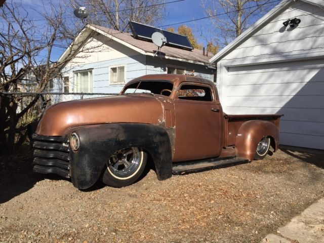 111111 1950 Chevy Chopped Dropped Bagged Hot Rat Rod Mean Kustom Truck