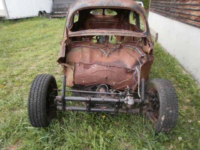 1339761 1951 Vw Beetle Project Or Parts Rat Rod Bug Baja Bug