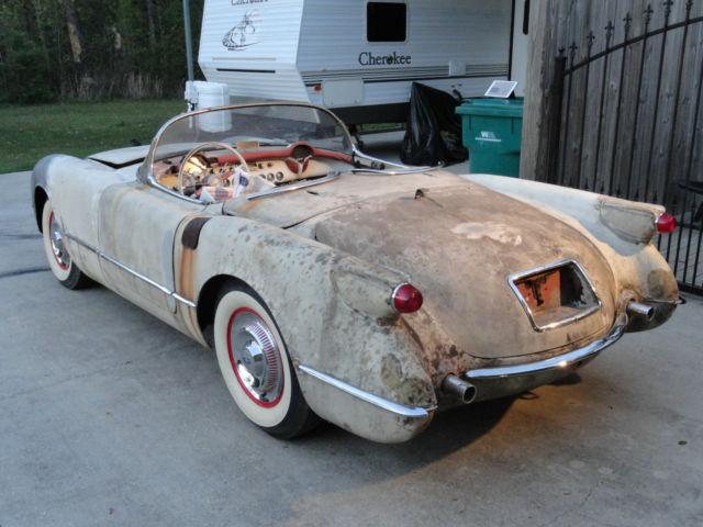E54s003678 1954 Corvette Project Ncrs Needs Restoration