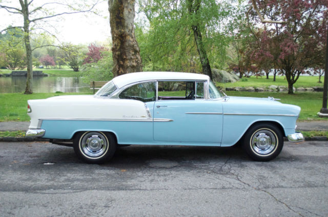 Dependable Used Cars >> 1955 Chevy Bel Air 2 Door Sport Coupe Skyline Blue White