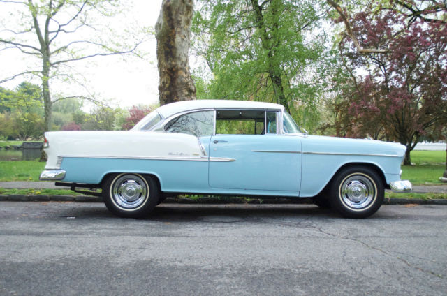 1955 chevy bel air 2 door sport coupe skyline blue white - 1955 chevrolet belair sport coupe ...