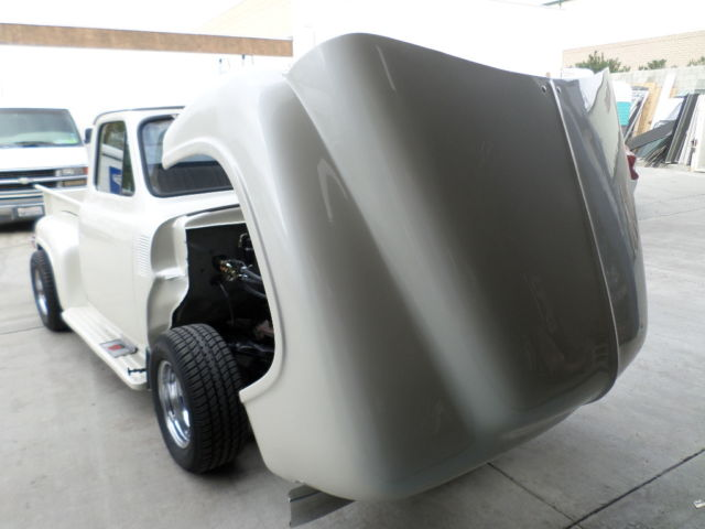 F1jd5r11805 1955 Ford Pick Up Pearl White V8 A C Tilt Front End Just Compleated