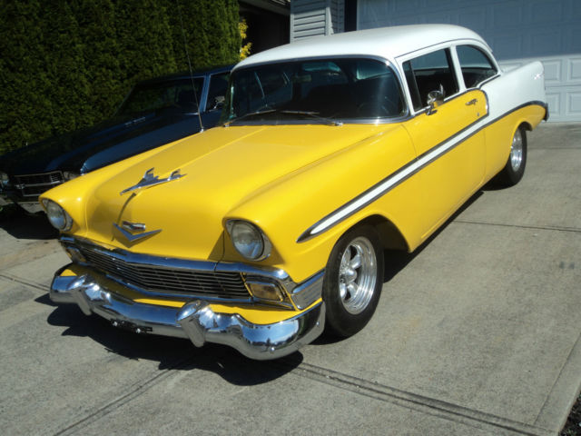 Belair Auto Auction >> 1956 Chevy Belair 350/350 Auto Yellow/white Starting bid only ,950.00!!
