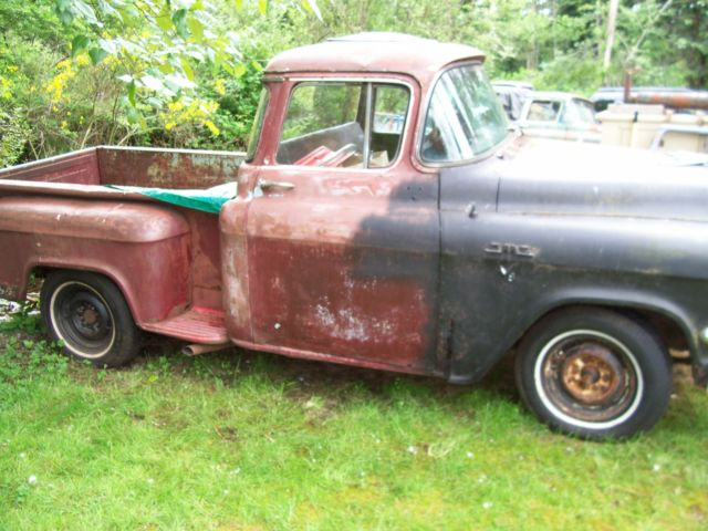 1956 Gmc Pickup Shortbed Deluxe Big Window Project Like Apache