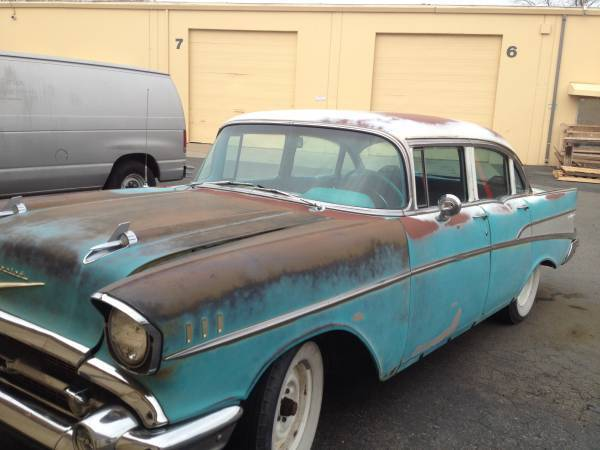 Vc57a173395 1957 chevy bel air 4 door all original with for 1957 chevy belair 4 door sedan for sale