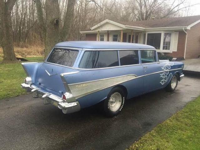 1957 chevy tri five belair handyman wagon for sale no reserve v8 4 speed look. Black Bedroom Furniture Sets. Home Design Ideas