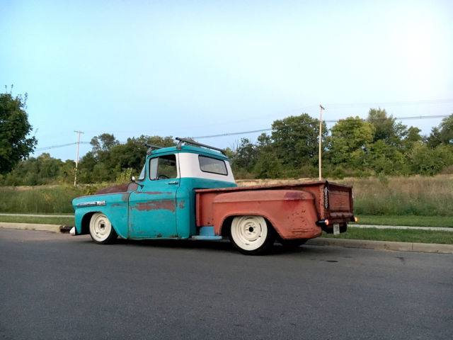 1959 Chevy Apache 12 Ton Step Side Hot Rod Lowered Patina Truck