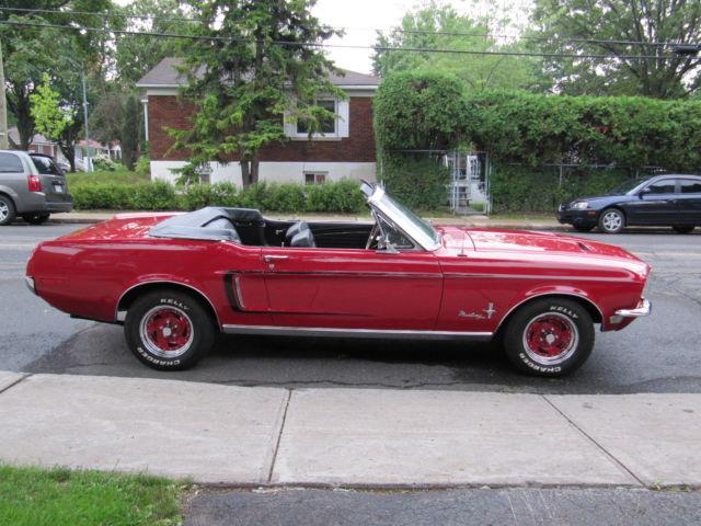 1968 ford mustang base convertible 2 door 5 0l. Black Bedroom Furniture Sets. Home Design Ideas