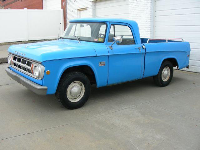 Black Dodge Pickup Truck >> 1181922836 - 1969 DODGE D100 1/2-TON PICKUP, SHORT SWEPT-SIDE (WIDE) BED