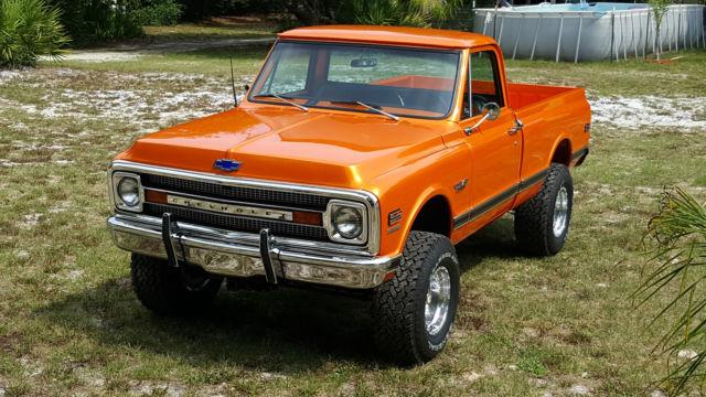 Ks140z108456 1970 Chevy Short Bed 4x4 Fresh Frame Off