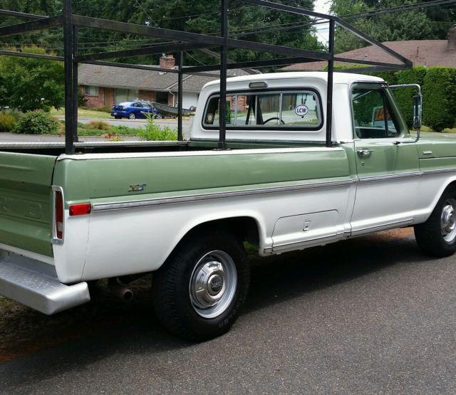 f25yrj37382 1970 ford f250 ranger xlt camper special. Black Bedroom Furniture Sets. Home Design Ideas