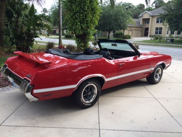 1970 oldsmobile 442 4speed red convertible w30 comp