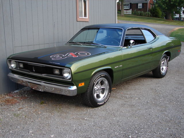 1970 plymouth duster factory 340c i h code car 4 speed rotisserie restored. Black Bedroom Furniture Sets. Home Design Ideas