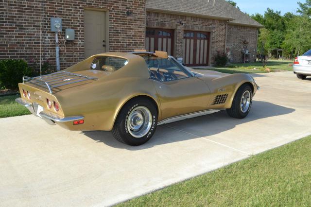 1Z37K2S513408 - 1972 Corvette Stingray, Warbonnet Yellow, 350 HP