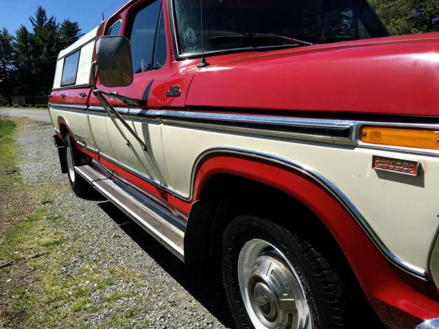 X25jky11749 1977 Ford F 250 Xlt Ranger Supercab Camper