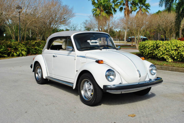 1977 Volkswagen Beetle Convertible Champagne Edition 4-Speed! Drives Great!
