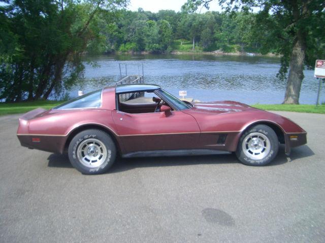 1g1ay8764bs414386 1981 chvrolet corvette 2 tone cinnabar leather 52 164 original miles glass tops. Black Bedroom Furniture Sets. Home Design Ideas