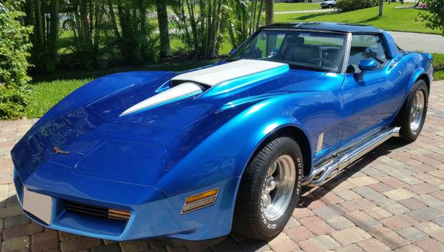 1g1ay8764bs425484 1981 Corvette T Top 4 Speed Manual Blue