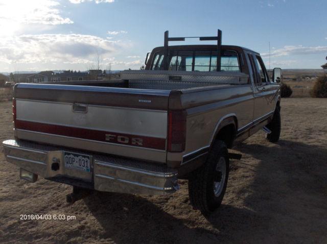 1fthx2615gka68335 1986 Ford Turbo Diesel 4x4 F250