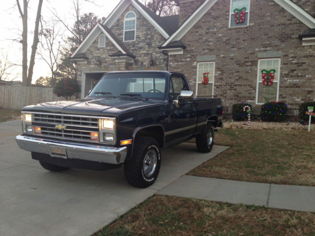 1gcev14k0hf375114 1987 chevrolet v10 silverado standard cab pickup 2 door 5 7l. Black Bedroom Furniture Sets. Home Design Ideas
