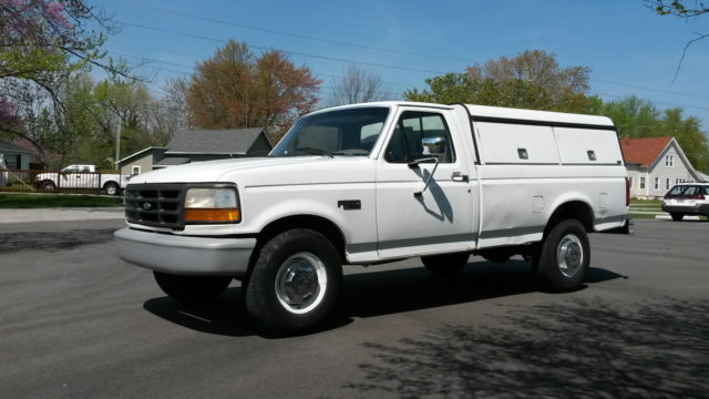 1fthf25y5rla46320 1994 ford f 250 xl pickup truck 4 9 300 six at contractor shell fleet maintained. Black Bedroom Furniture Sets. Home Design Ideas