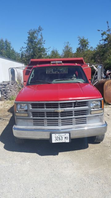 1gbkc34f8sj107279 - 1995 GMC 3500 HD 1 Ton Dump Truck Turbo