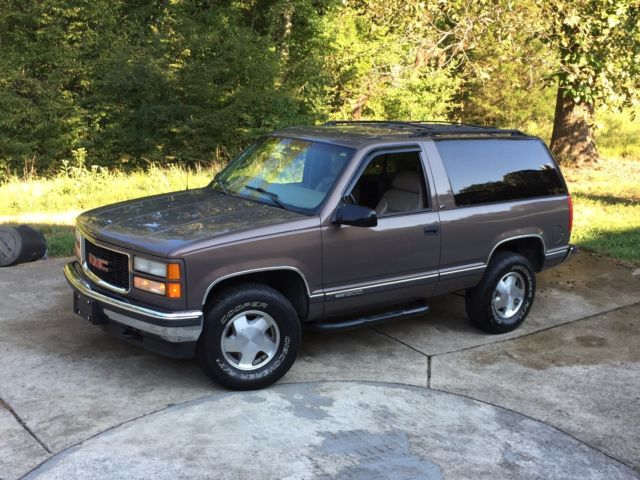 Gmc Yukon For Sale >> 3GKEK18R6VG517822 - 1997 GMC Yukon 2 Door 4x4 Low Miles