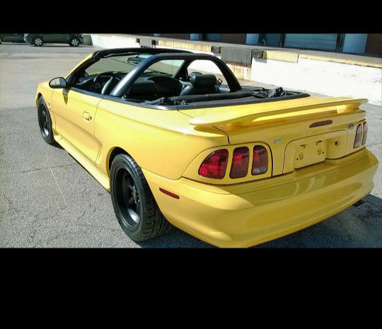 Supercharged Mustang Yellow