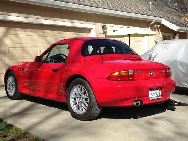 4usch9338xlf81723 1999 Bmw Z3 Roadster Rare Hardtop Amp Hellrot Red Convertible Manual
