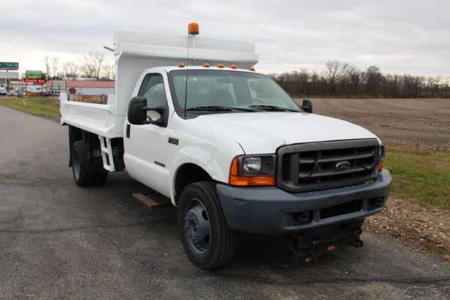 1fdaf56f9yea09656 2000 F 550 Dump Truck Snow Plow Xl