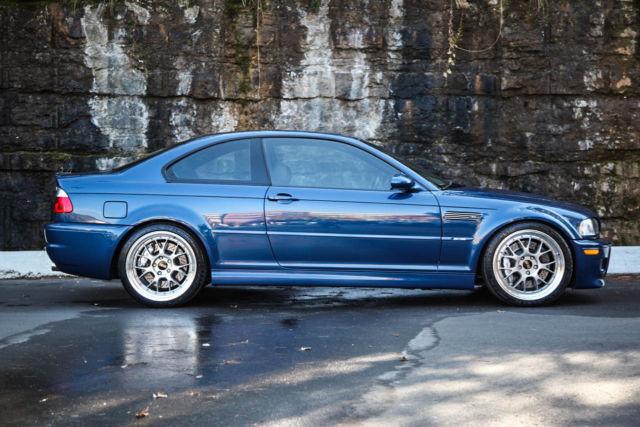 Wbsbl93422jr16333 2002 Bmw E46 M3 6 Speed 45k Topaz Blue Bbs Lm R