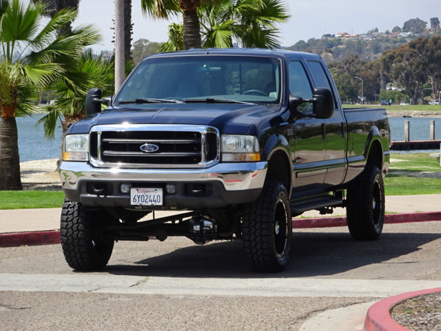 1ftsw31f52ec20896 2002 ford f350 lariat 7 3 diesel truck crew cab long bed 4x4 4wd lifted 1 owner. Black Bedroom Furniture Sets. Home Design Ideas
