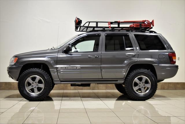2002 jeep grand cherokee overland quadra drive lifted 4x4 roof rack offroad 1j8gw68j22c241050 used cars for sale from usa