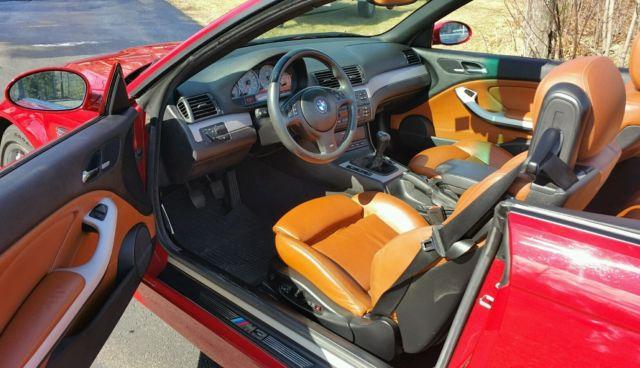 Wbsbr93463pk00676 2003 bmw m3 convertible imola red - E46 m3 cinnamon interior for sale ...
