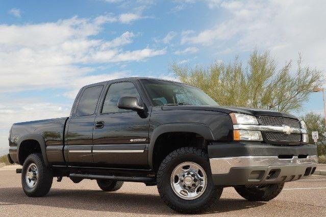 2004 Chevrolet Silverado 2500hd Ls Ext Cab Short Bed 4wd 161306 Miles Black Ext 1gchk29u44e300616
