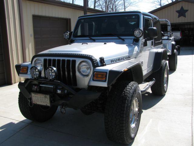 1j4fa69s34p719183 2004 Jeep Wrangler Rubicon With Custom Jeep Trailer