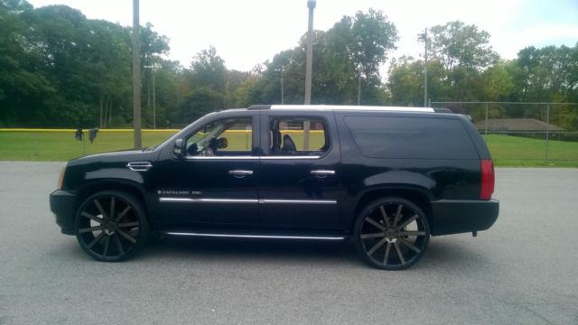 """Cadillac Escalade Esv For Sale >> 2007 Custom cadillac escalade esv awd 28"""" Dub wheels BLACK ..."""