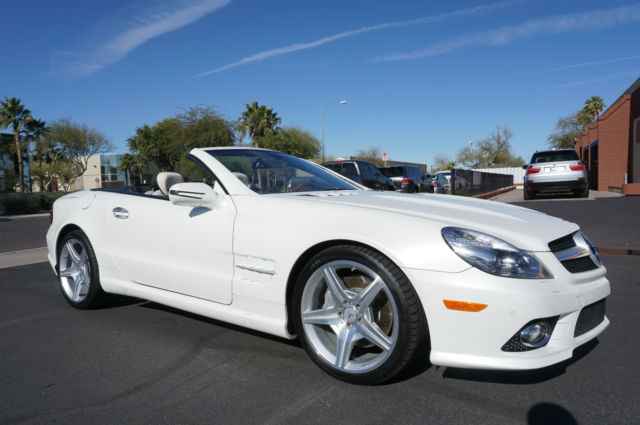 Wdbsk71f29f158072 2009 diamond white sl550 sl class 500 for Mercedes benz sl550 convertible for sale