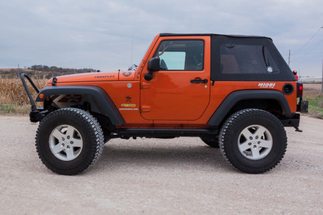 1j4aa2d10al202489 2010 Jeep Wrangler 4 X 4 Sport Lifted 2 Door Soft Top Mango Tango Orange