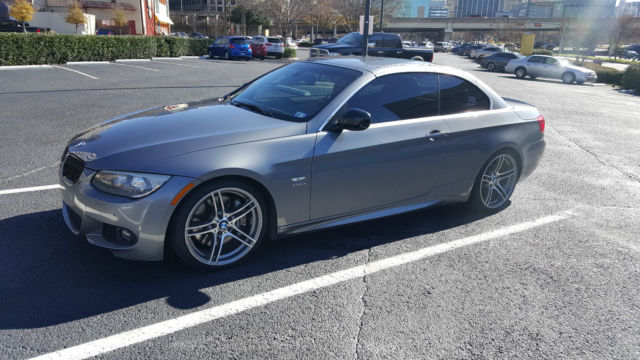 Wbadx1c52be570482 2011 Bmw 335is Convertible Space Grey Coral Red Leather 7 Spd Dct Transmission