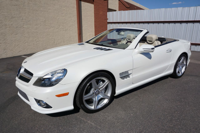 Wdbsk7ba5bf163873 2011 White Sl550 Amg Convertible Sl Class 550 Like 2007 2008 2009 2012 2013 2014