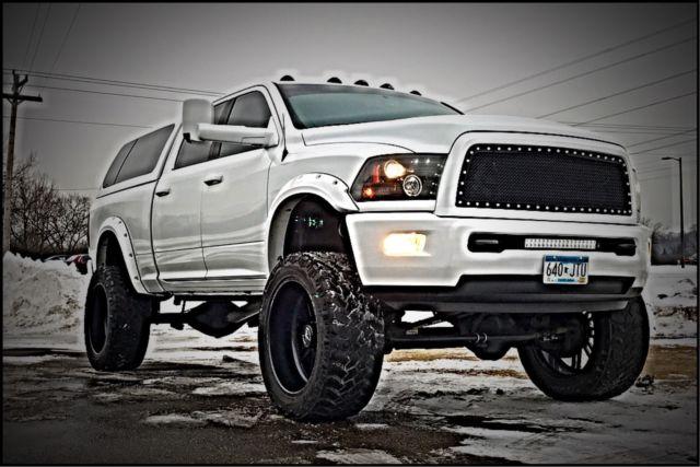 3c6ud5gl6cg250546 2012 dodge ram limited 2500 diesel cummins custom 8 lift 24 rims white - White 2014 Dodge Ram 2500 Lifted
