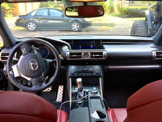 JTHBF1D21E5025099   2014 Lexus IS 250 F Sport   Black With Red Leather  Interior 28k Miles!!