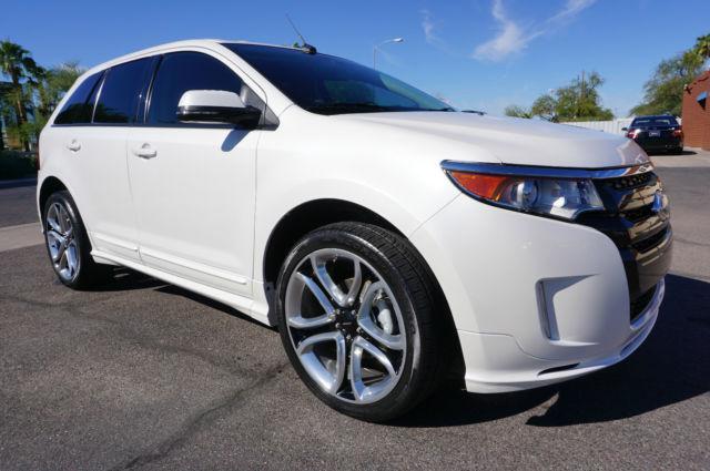 2fmdk3ak1eba46449 2014 white ford edge sport suv arizona car like 2010 2011 2012 2013 2015 2016. Black Bedroom Furniture Sets. Home Design Ideas