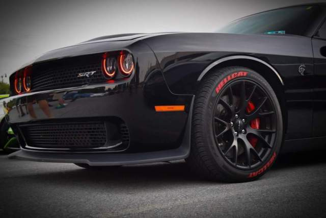 2015 Dodge Challenger Hellcat Black/Black W/ Red Alcantara ...