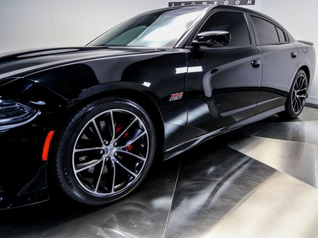 2c3cdxgj4fh892657 2015 Dodge Charger R T Scat Pack 32757 Miles Pitch Black 4d Sedan Srt Hemi 6 4l