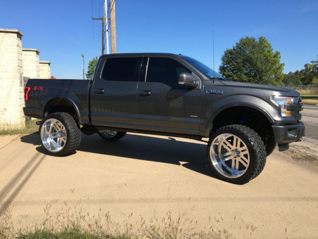 1ftew1eg2fke33641 2015 ford f150 w 8 lift on 26x14 american force wheels. Black Bedroom Furniture Sets. Home Design Ideas