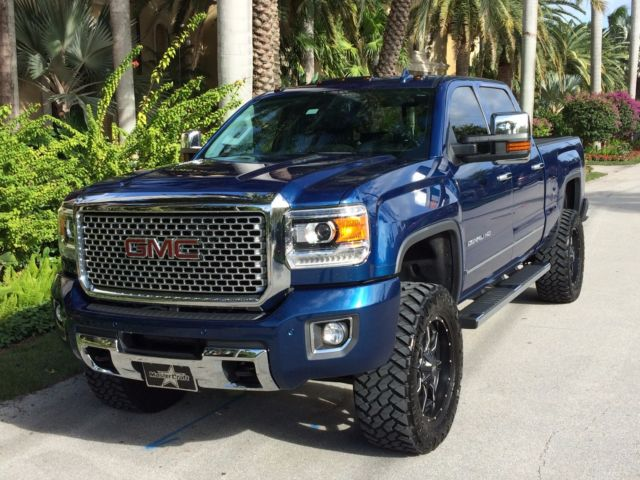 1gt120e89ff630568 2015 gmc sierra 2500 denali lifted low miles. Black Bedroom Furniture Sets. Home Design Ideas